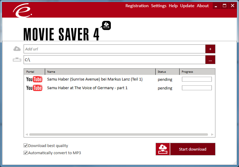 Click to view Engelmann Media MovieSaver 4 screenshot