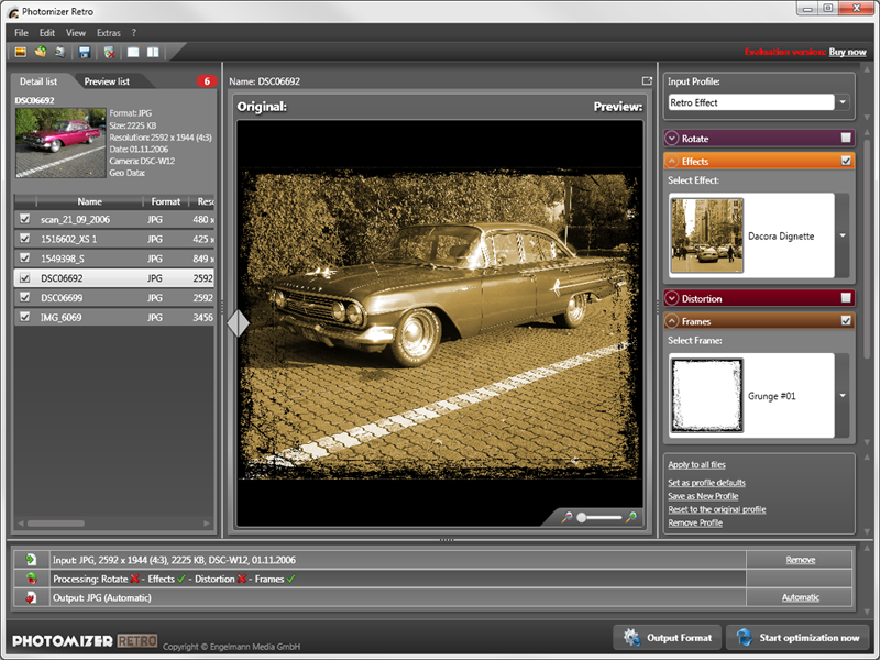 Click to view Engelmann Media Photomizer Retro screenshots